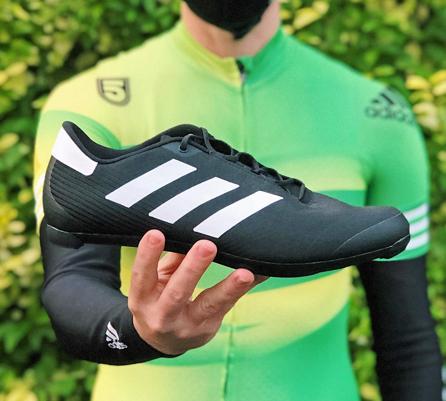 The Road Cycling Shoes by adidas mix classic soccer style & laces ...