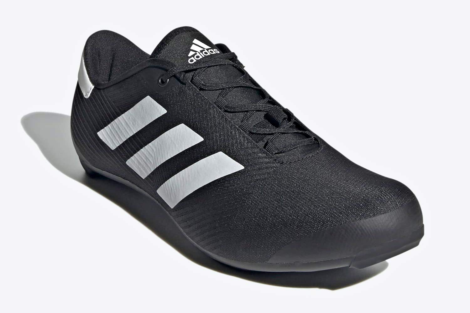 Adidas The Road Cycling Shoes, all-new mid-price lace-up soccer football style road bike shoe,angled