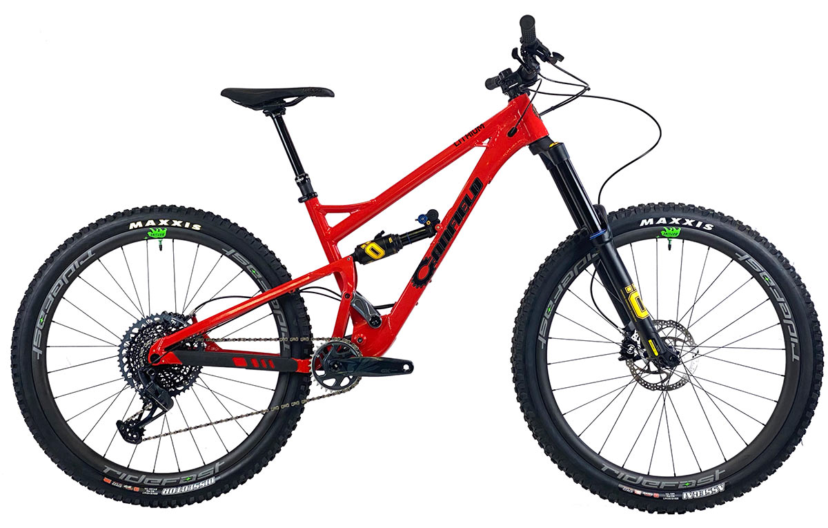 2021 canfield lithium full suspension mountain bike side profile