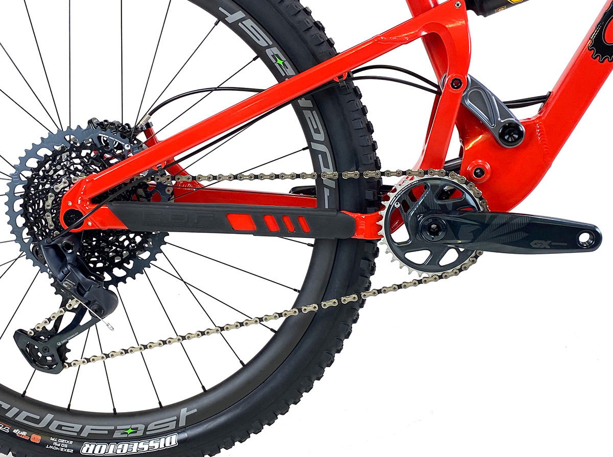2021 canfield lithium full suspension mountain bike linkage side profile