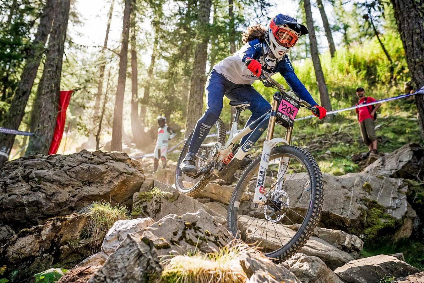 Crankbrothers Synthesis Privateer Program, grassroots racing support, Camille Balanche at Les Orres