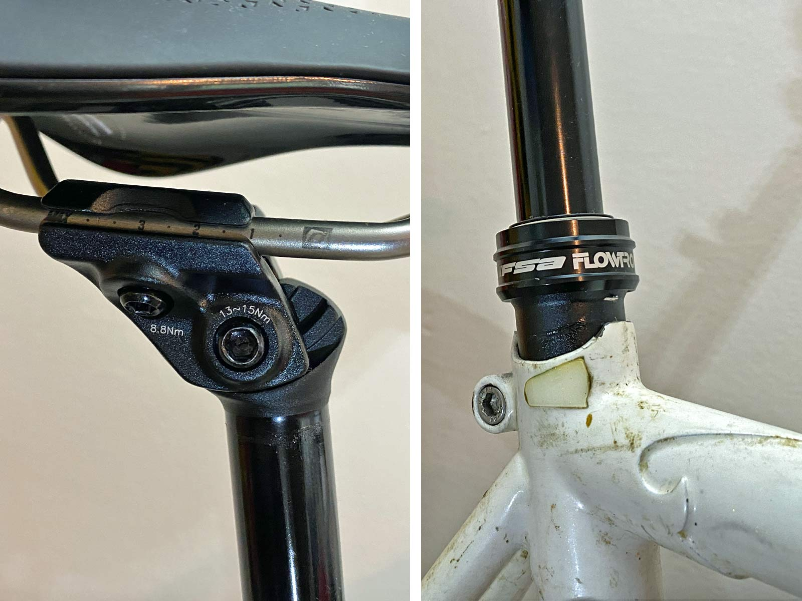 FSA Flowtron AGX gravel dropper post, First Look Review: 27.2mm internally routed dropper seatpost with dropbar remote,dropper details