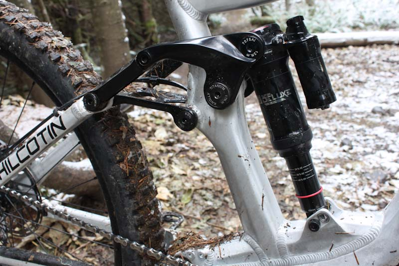 Knolly Chilcotin 167, shock and linkage
