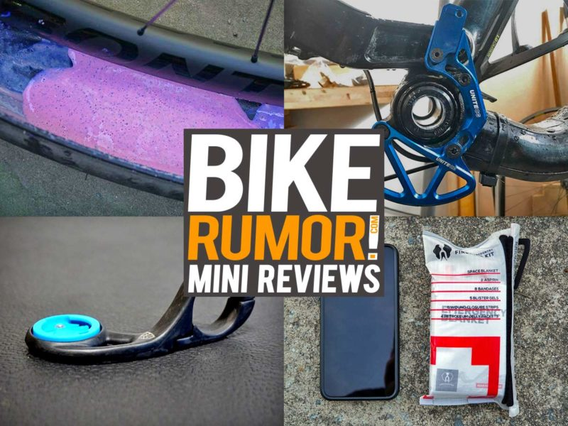 Unite Co Chain Guide & Bash Guard, Muc-Off Tire Sealant, KX3 Carbon Computer Mount, Uncharted Supply Co. Triage Kit