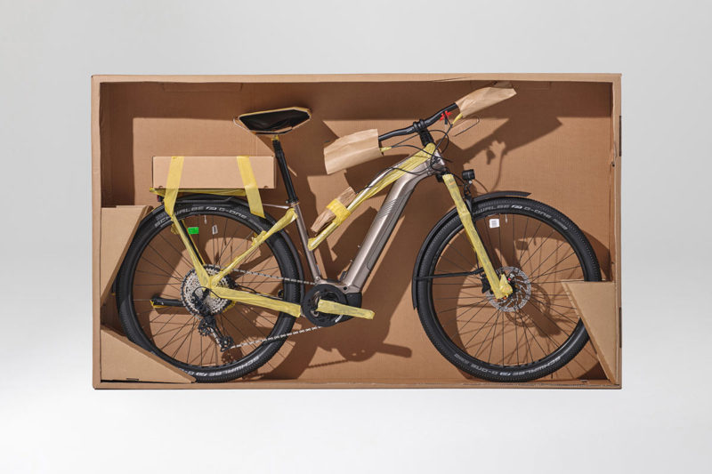 cannondale plastic free bicycle packaging is fully recyclable