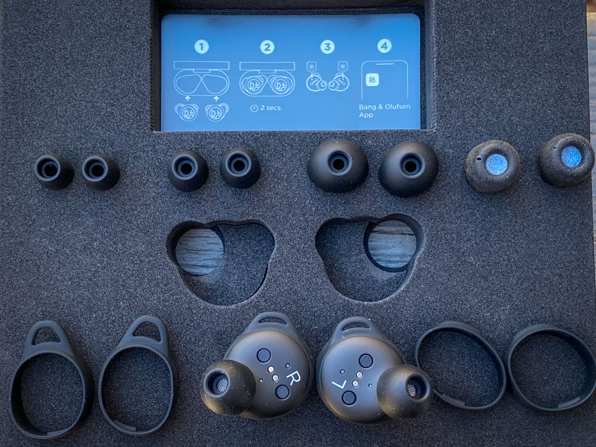 Rapha + Bang & Olufsen Limited Edition Beoplay E8 Sport earphones included accessories