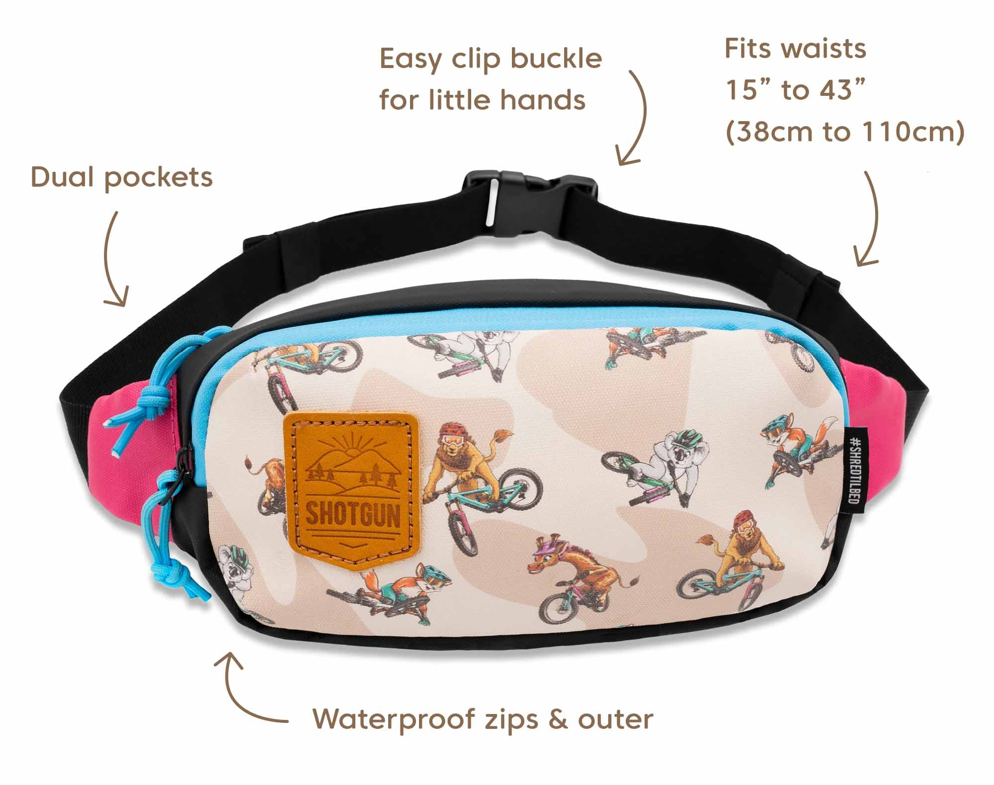 MTB Tow Rope hip pack
