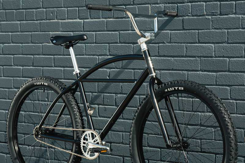 State Bicycle Co. Klunker, front angle