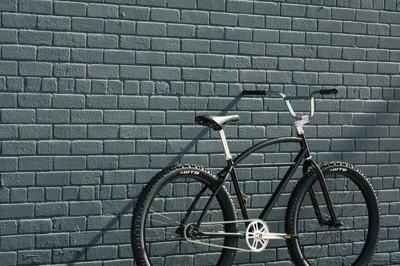 State Bicycle Co. Klunker, rear angle