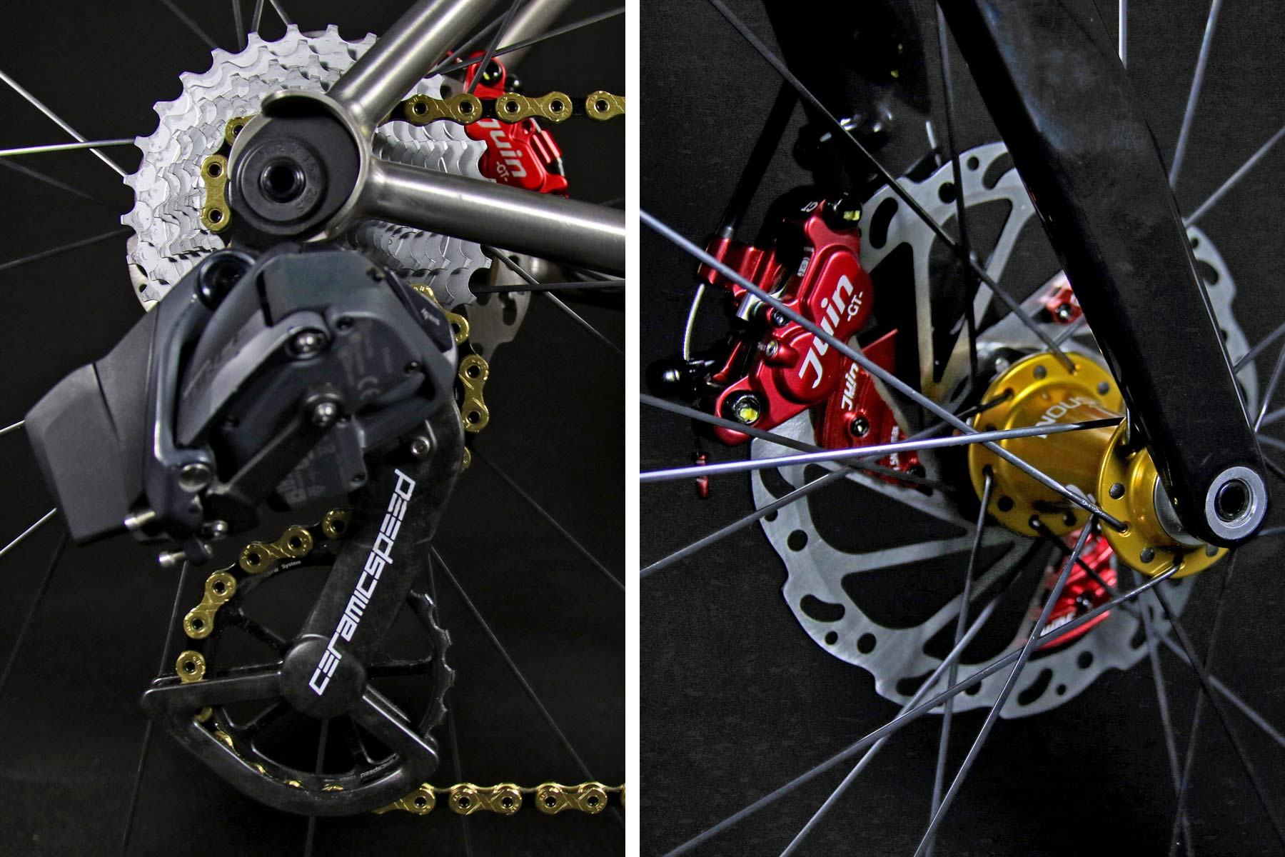 TRed Arcanide A03 Venti to road bike, fully-integrated internal cable routing custom titanium road bike,build details