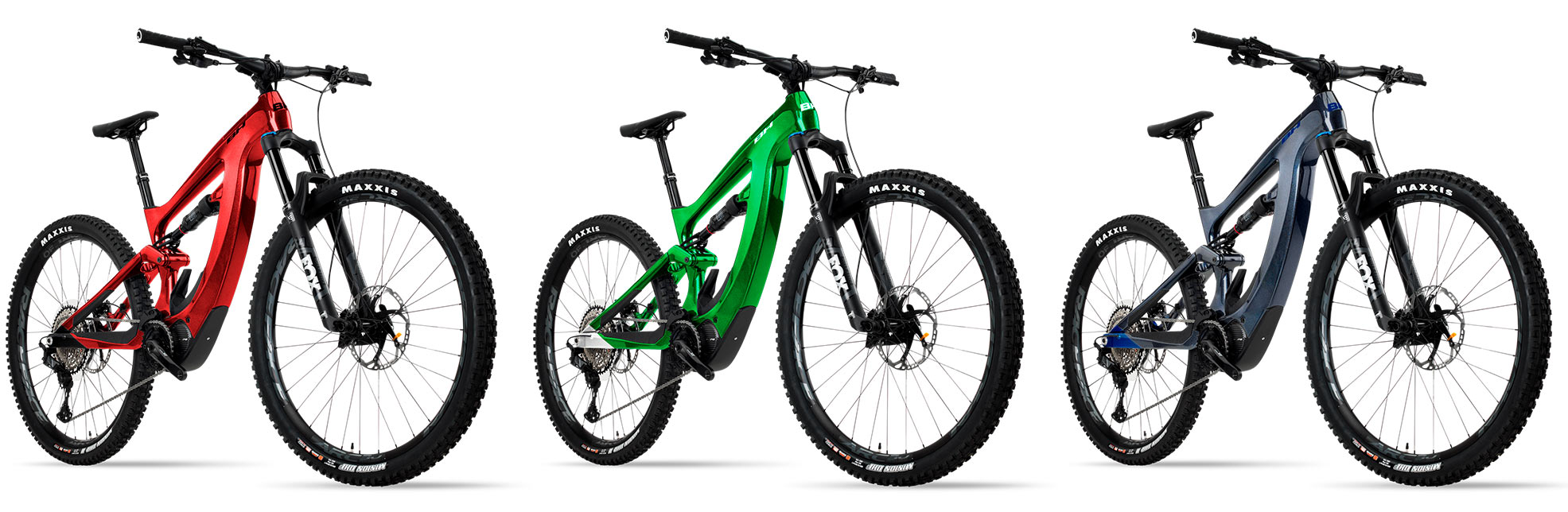 2021 BH XTEP full suspension electric assist mountain bike color options