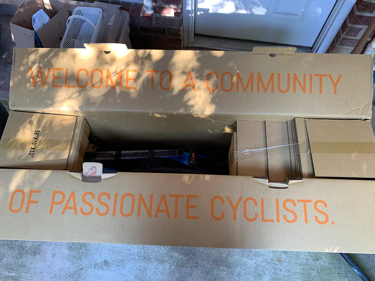 what is included with the canyon road bike in the box