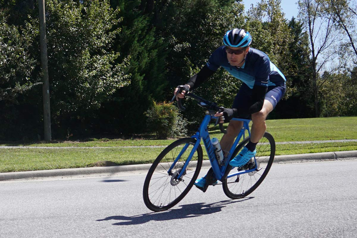 canyon endurace road bike review and riding action photos