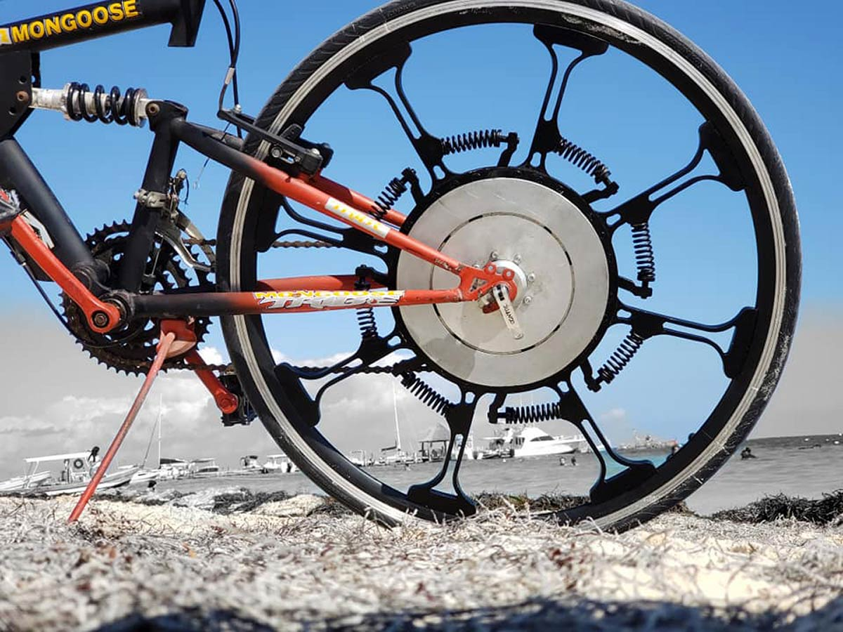 super wheel system forciclette spring powered alternative bicycle wheel design