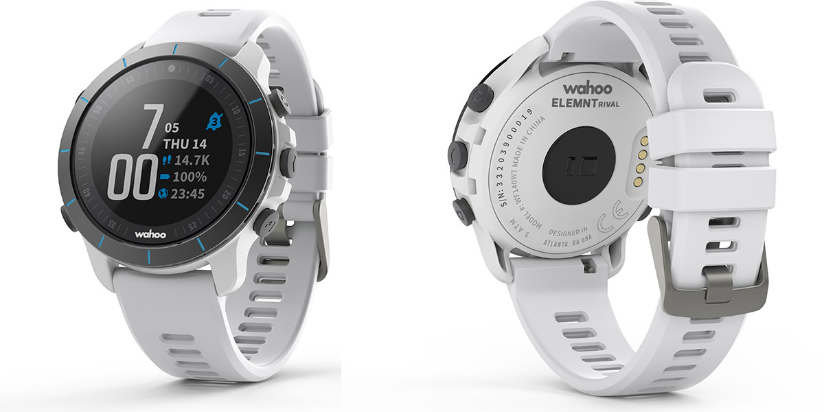 wahoo elemnt rival gps watch white