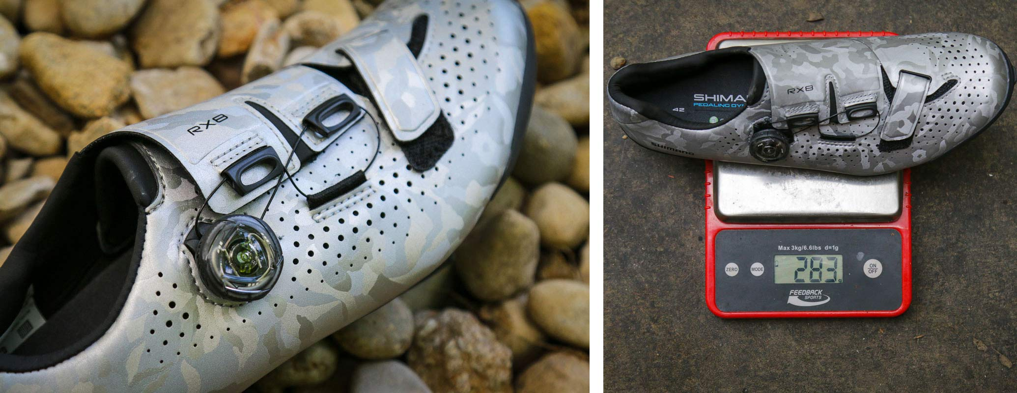 shimano rx8 gravel bike shoes review and actual weight on the scale