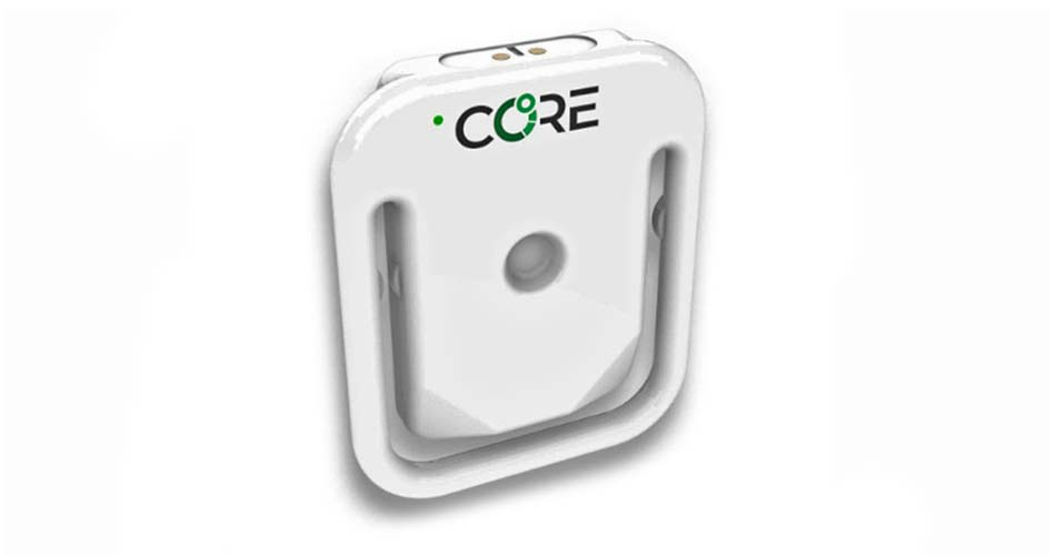 CORE Body Temperature Monitor, non-invasive internal body temp tracking to improve cycling performance, rechargeable