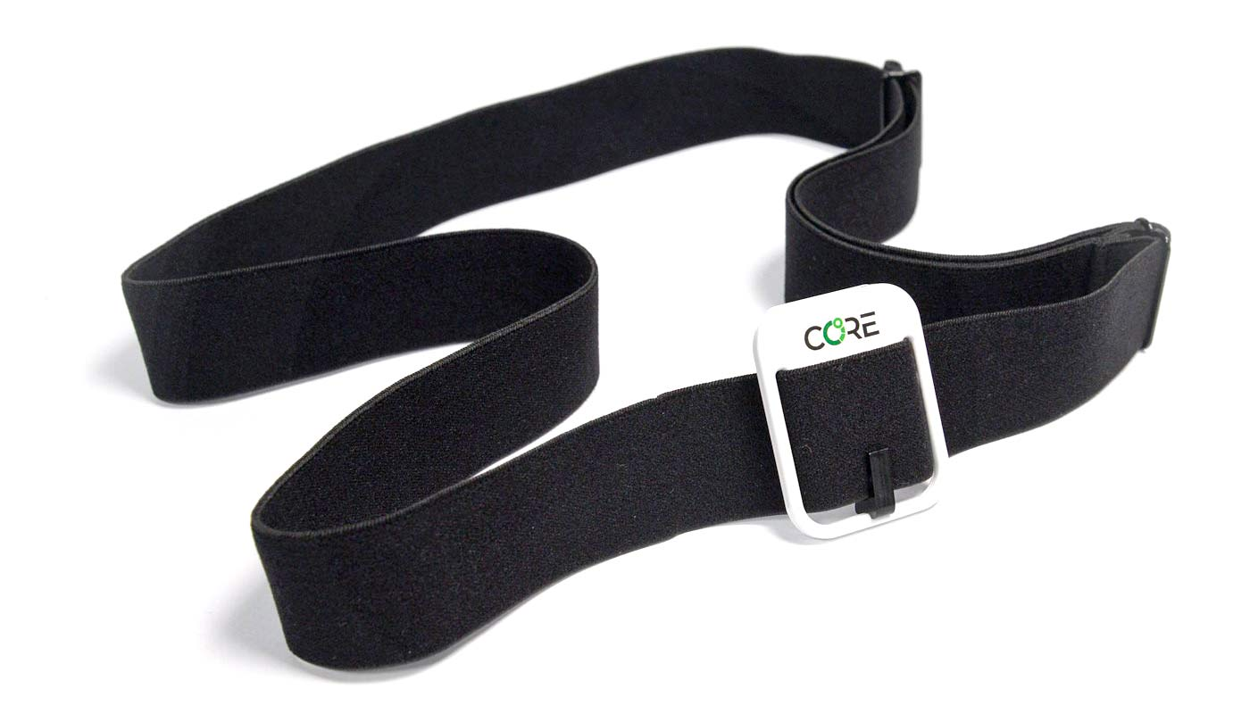 CORE Body Temperature Monitor, non-invasive internal body temp tracking to improve cycling performance, heart rate strap