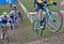 CX Pro Bike Check: Bianchi Zolder Pro carbon cyclocross bike, Wout van Aert at UCI Cyclo-Cross World Cup Tabor, bike handling style
