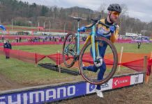 CX Pro Bike Check, 2021 Bombtrack Tension C, affordable World Cup-ready carbon cyclocross bike of Gosse van der Meer, aka Gossinki over the Tabor barriers