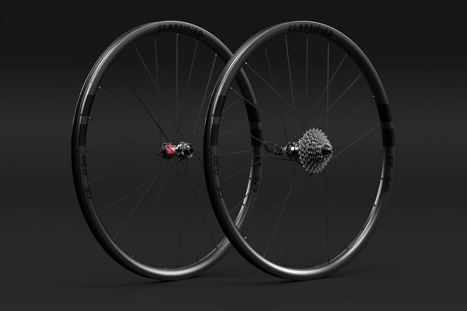 Classified Carbon Wheelsets, gravel & all-road wheels with wireless 2x internal gear hub built-in,30mm gravel