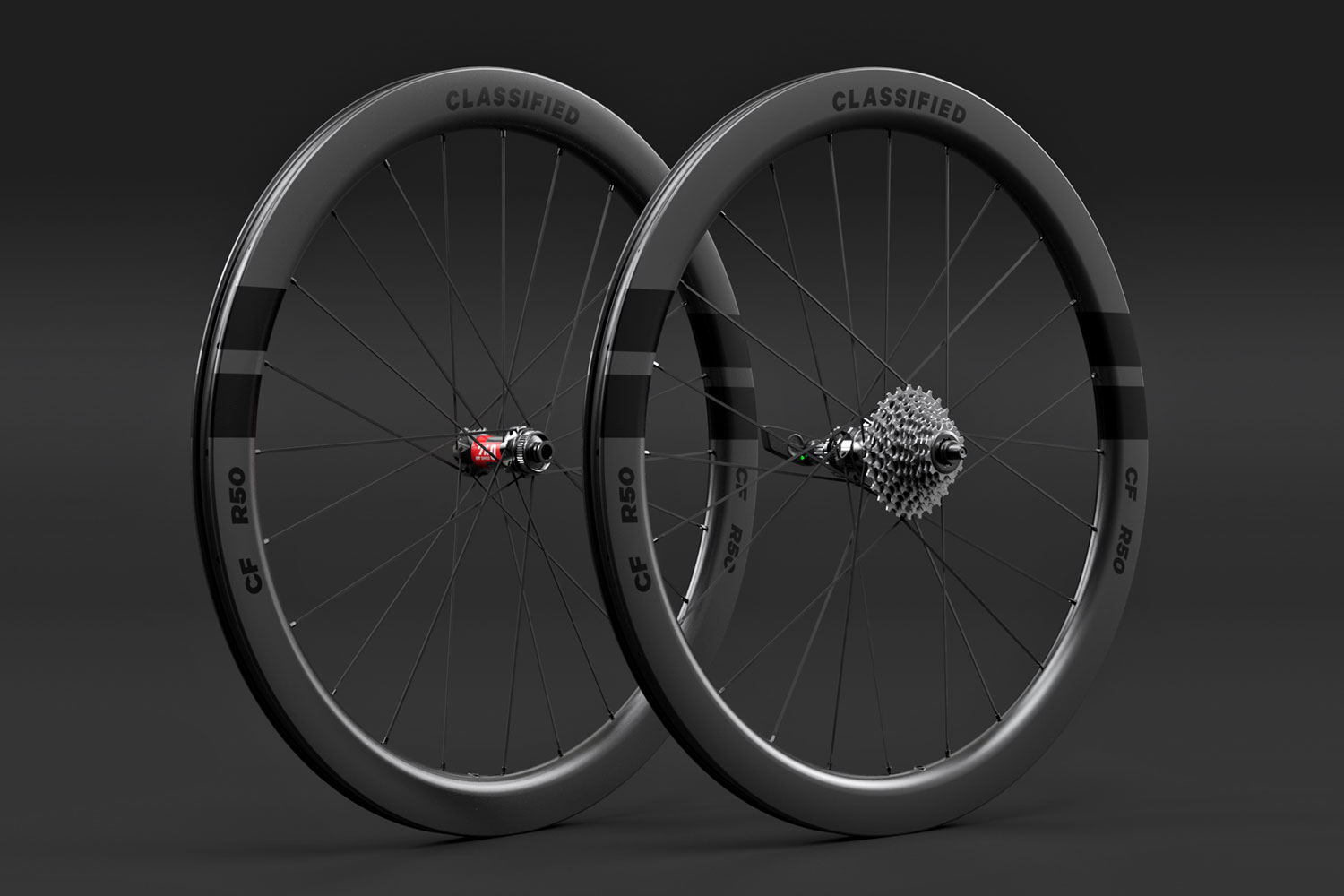 Classified Carbon Wheelsets, gravel & all-road wheels with wireless 2x internal gear hub built-in,50mm aero road set