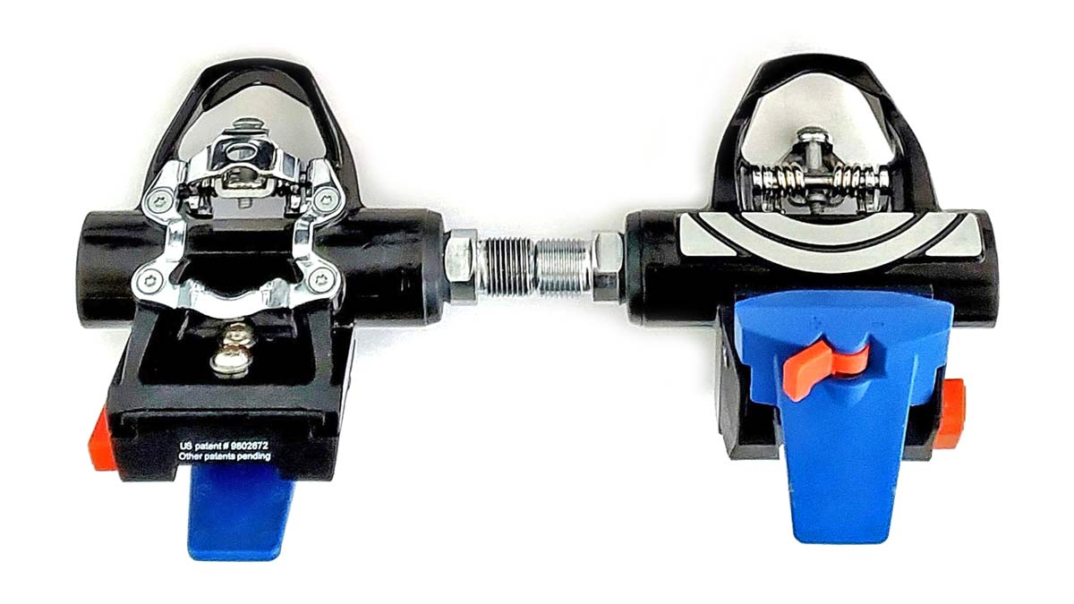 Fit5 universal Indoor Cycle Pedals; Look Delta or Keo, Shimano SPD-SL or SPD, toe-clip compatibility,pair