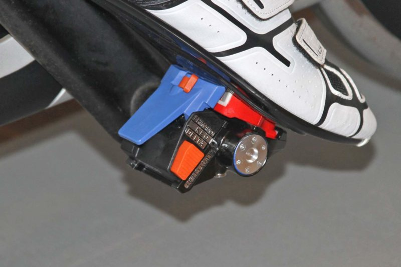 Fit5 universal Indoor Cycle Pedals; Look Delta or Keo, Shimano SPD-SL or SPD, toe-clip compatibility,on spin bike