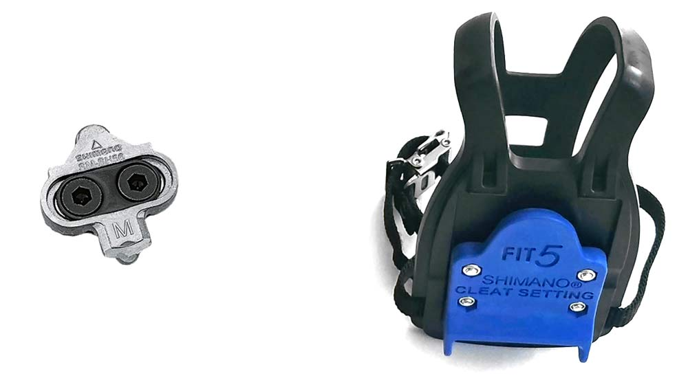 Fit5 universal Indoor Cycle Pedals; Look Delta or Keo, Shimano SPD-SL or SPD, toe-clip compatibility