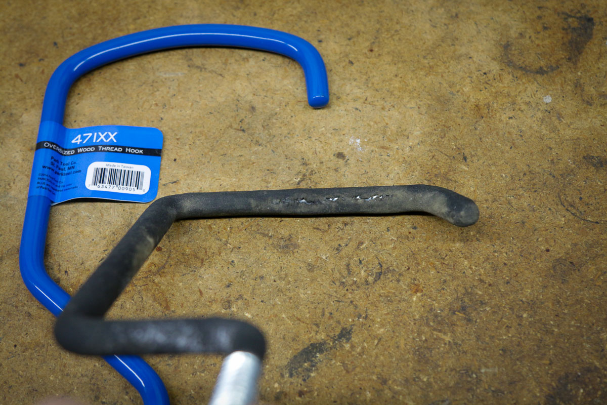 Ladder hook issues for fat bikes