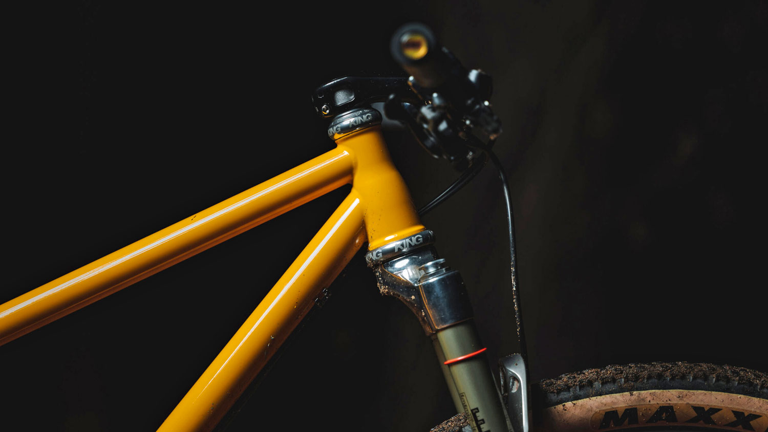 Sour Pasta Party steel XC hardtail mountain bike, tapered headtube