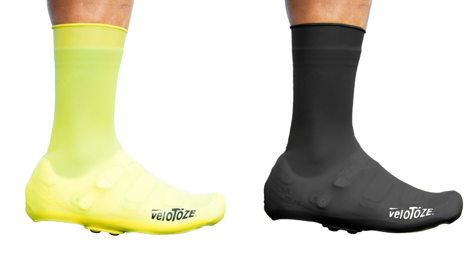 VeloToze Tall Shoe Covers Silicone, easy on and off windproof waterproof synthetic rubber road bike shoe covers with snaps, colors