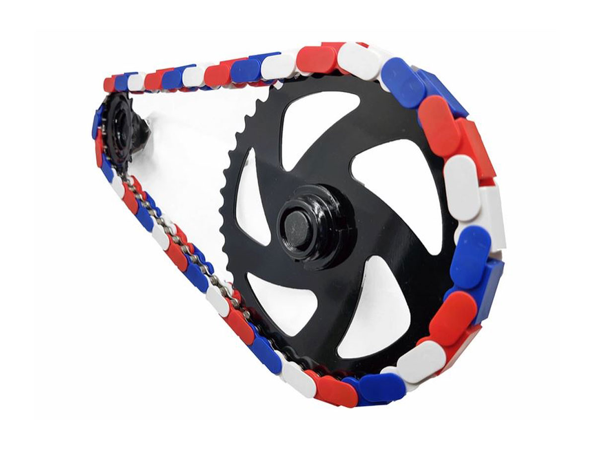 insane chains red white blue bike chain customization single speed only