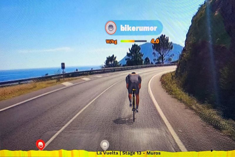 rouvy virtual indoor cycling training app uses real road video footage and GPS to create realistic riding simulations with your smart trainer