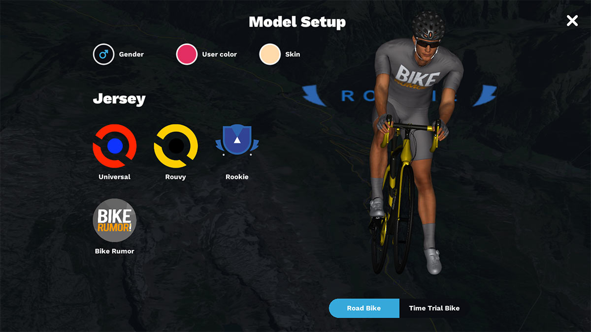 rouvy avatar customization for in game cyclist look