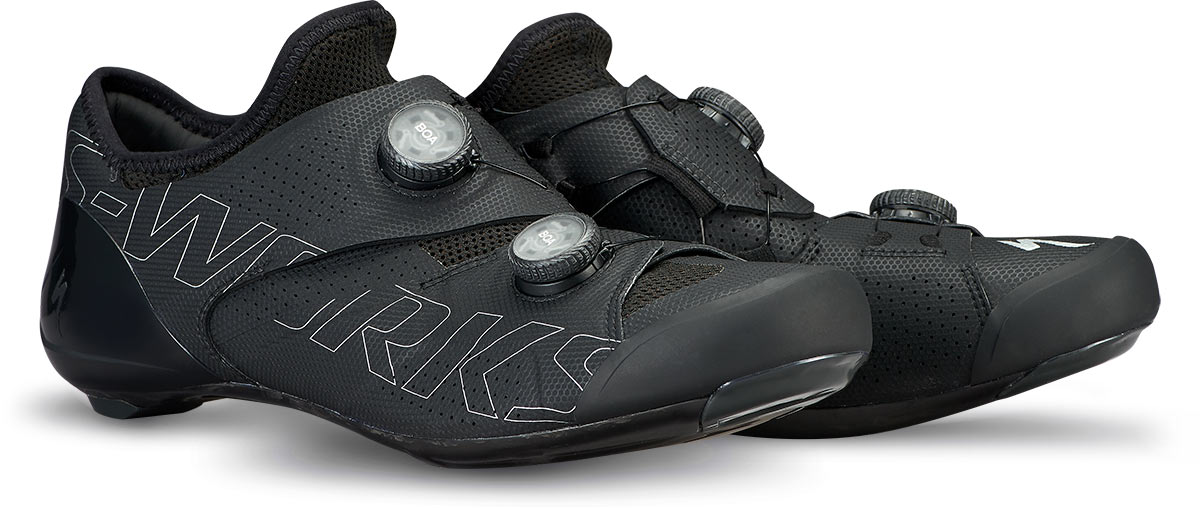 specialized ares s-works road bike shoes in black