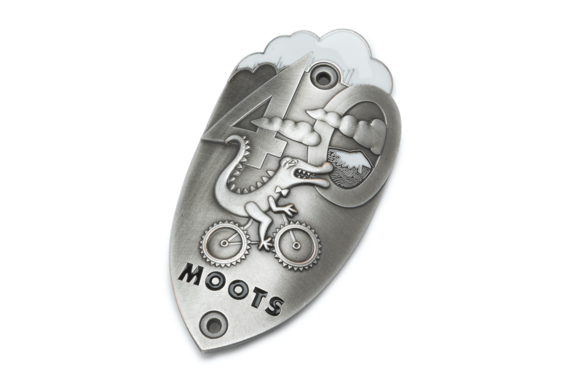 moots limited edition head badge 40th anniversary celebration