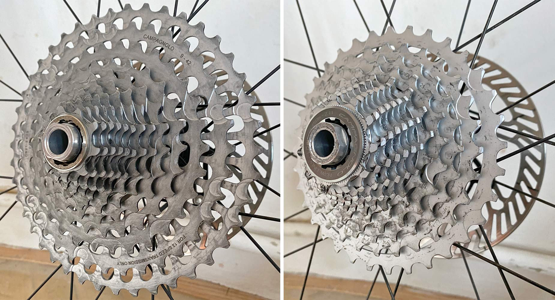 Campagnolo N3W freehub body Tech Feature in detail, new Campy backwards compatible gravel road bike wheels,new lockrings