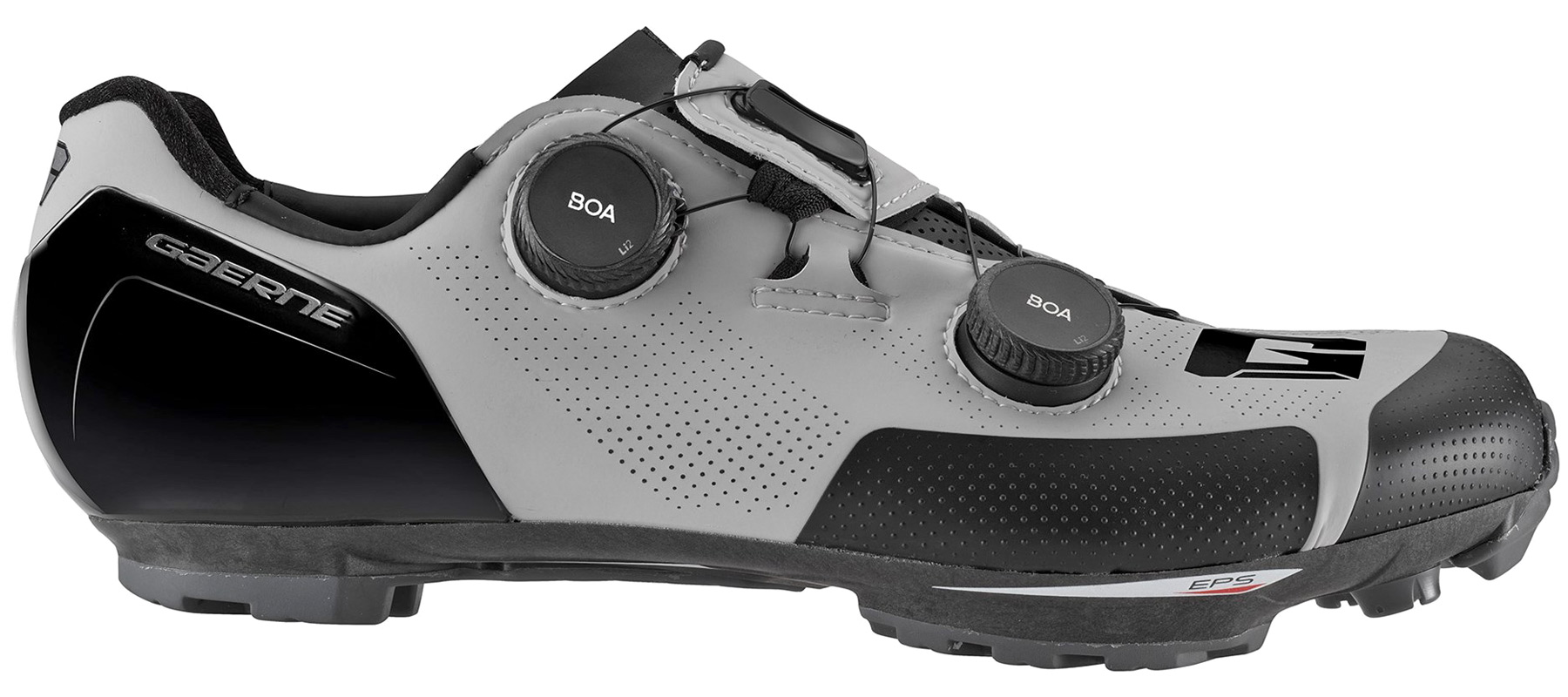 Gaerne G.SNX XC MTB shoes, top-tier race performance carbon cross-country mountain bike shoe, grey side