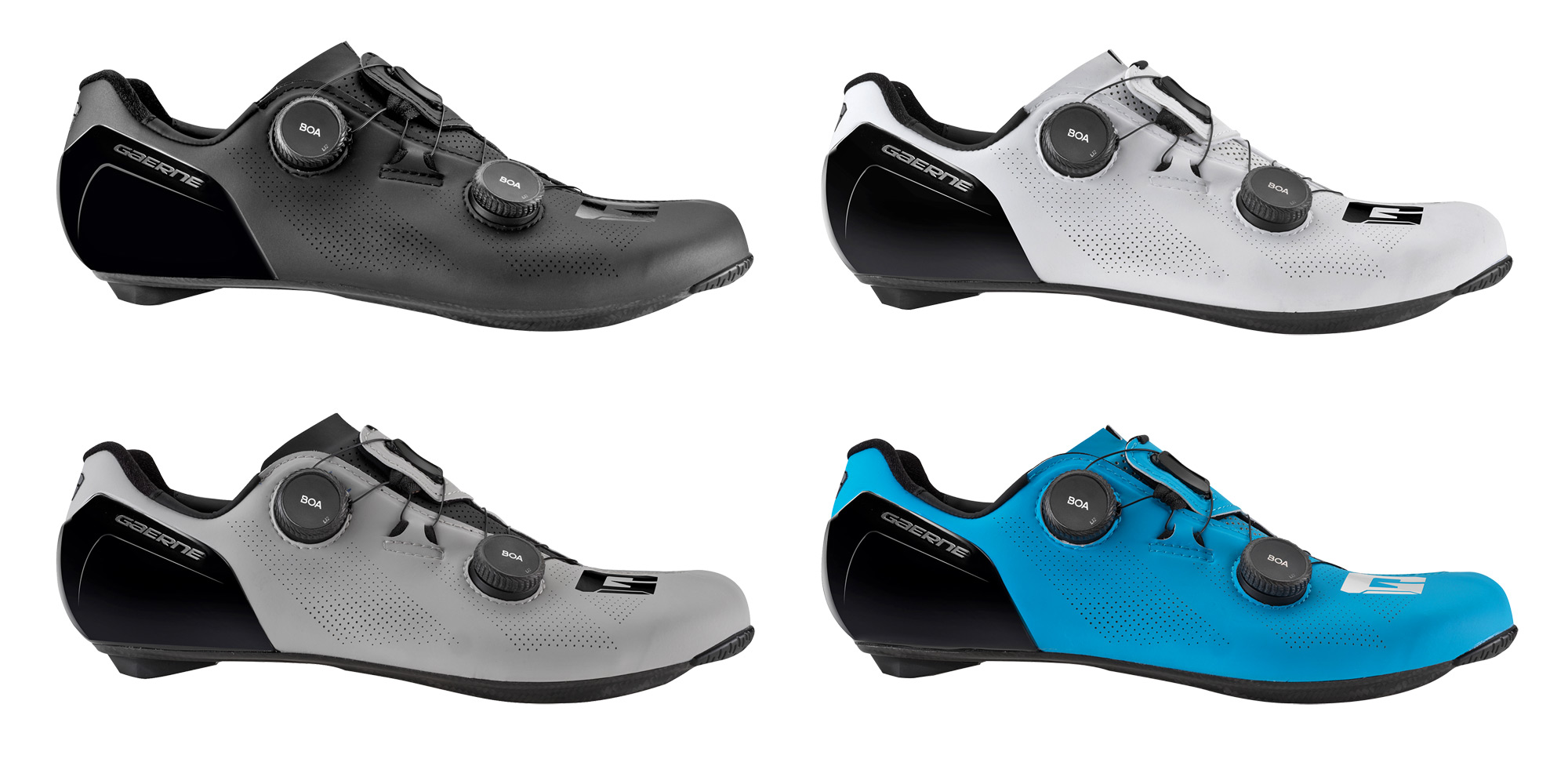 Gaerne G.STL road shoes, top-tier made-in-Italy performance carbon road race bike shoe, standard colors