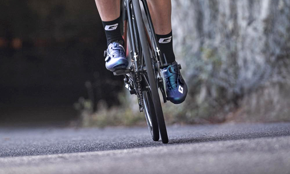 Gaerne G.STL road shoes, top-tier made-in-Italy performance carbon road race bike shoe, road riding