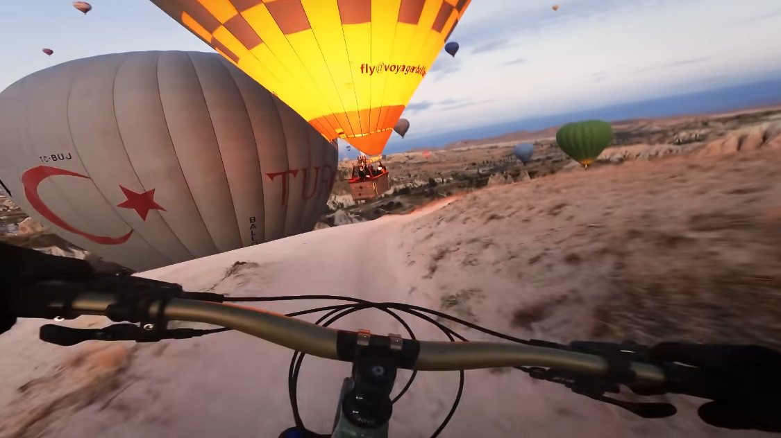 Must Watch: Kilian Bron flies through hot air balloons in Turkey for GoPro award - Bikerumor