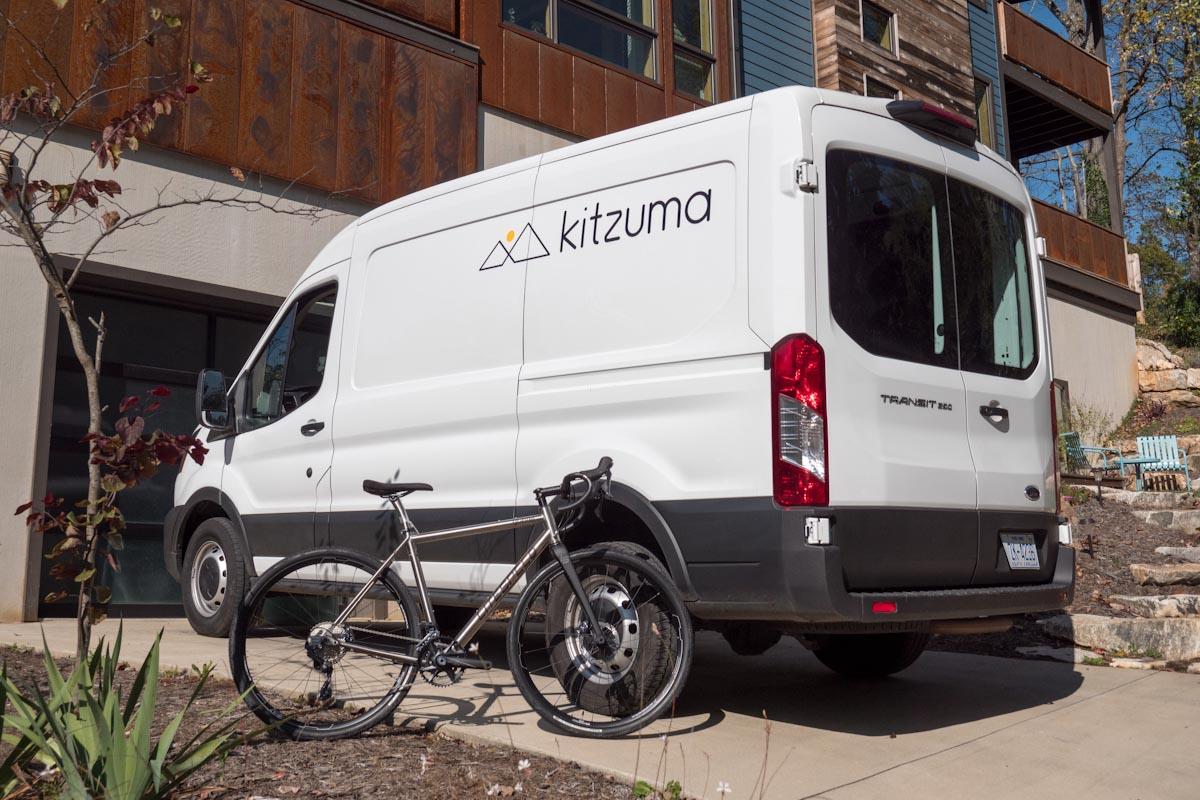 Kitzuma Cycling Logistics, van in driveway