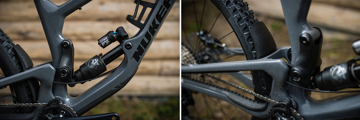 nukeproof giga frame protected chainstay seatstay downtube rubber protectors