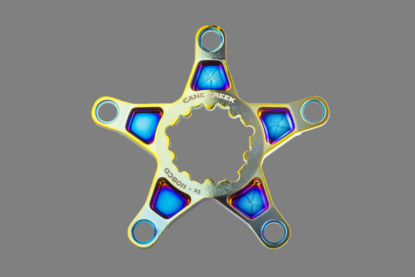 Cane Creek Limited edition Oil Slick chainring spider for eewings cranks