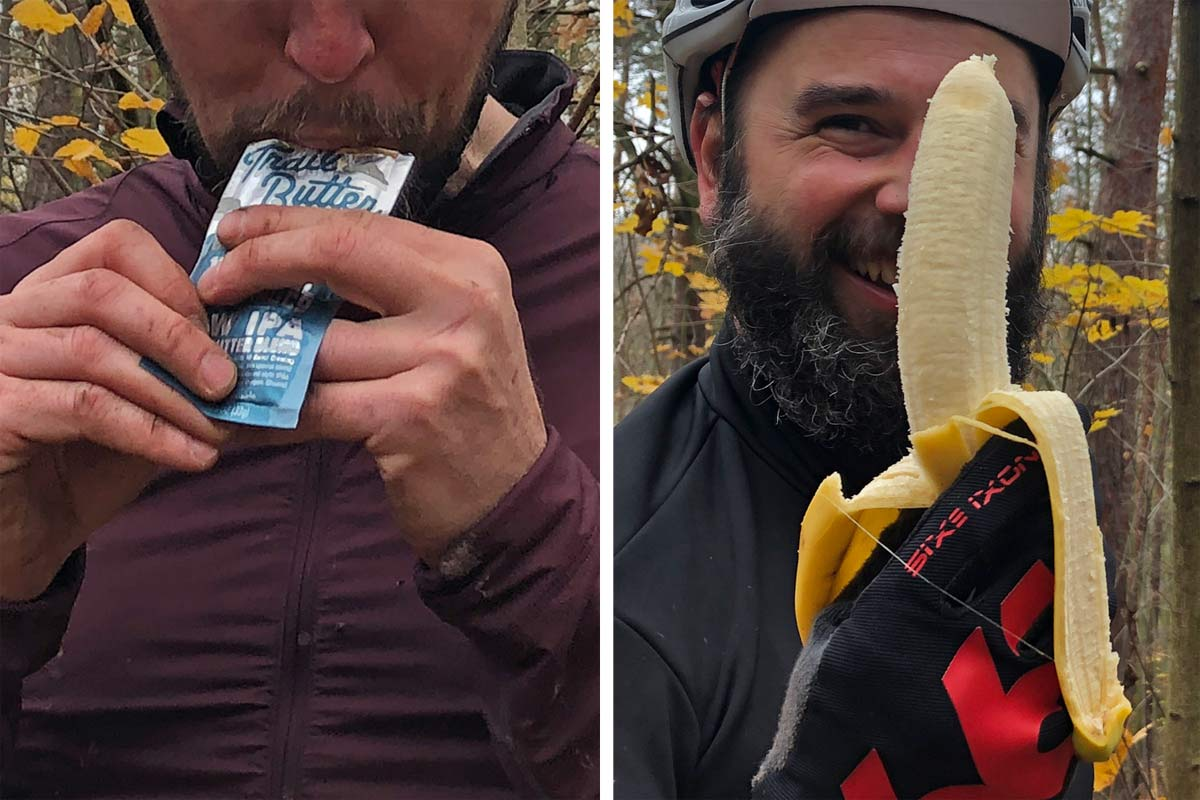 Trail Butter NW IPA nut butter healthy natural ride nutrition, vs. a classic banana
