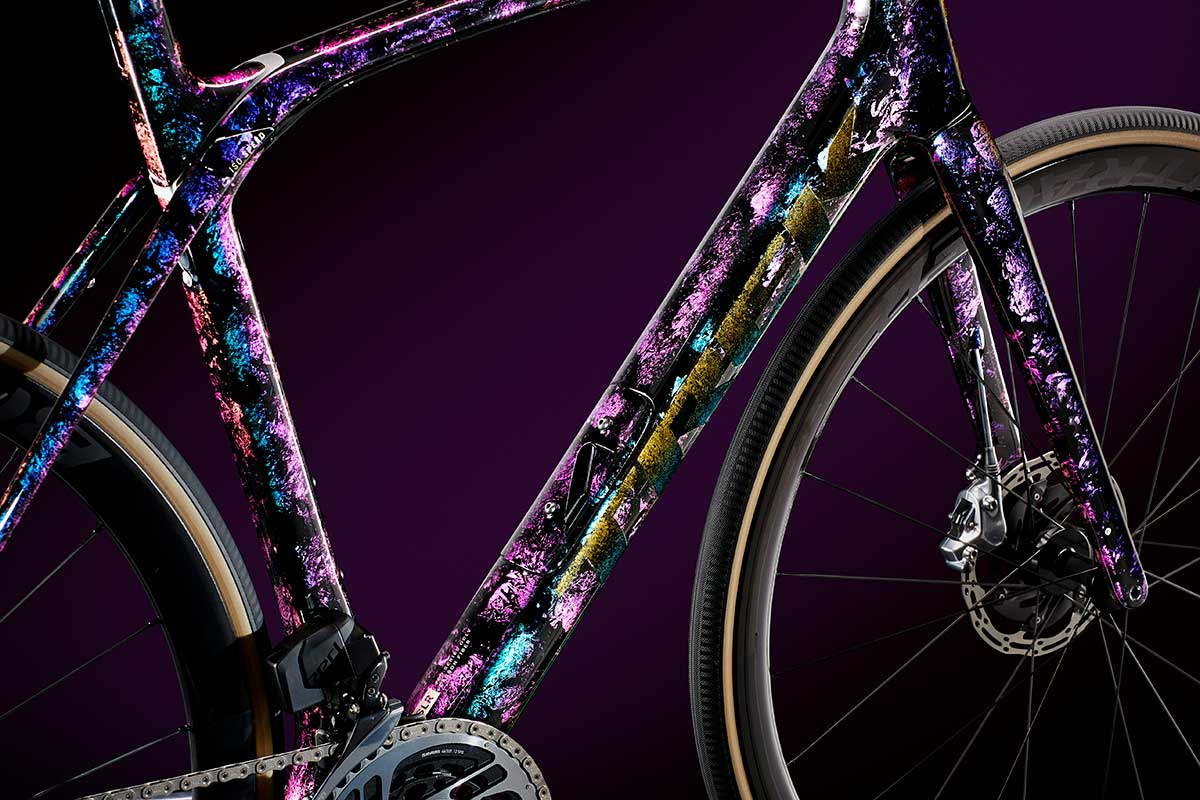 custom paint job trek domane psychedelic marble project one icon