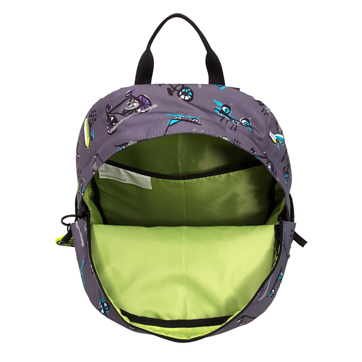 Po Campo kids backpack pannier open