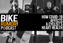 podcast cover art for interview about how coronavirus affects a cyclists heart health after infection