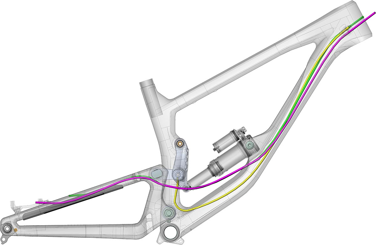 nukeproof giga internal cable routing housing tube-in-tube
